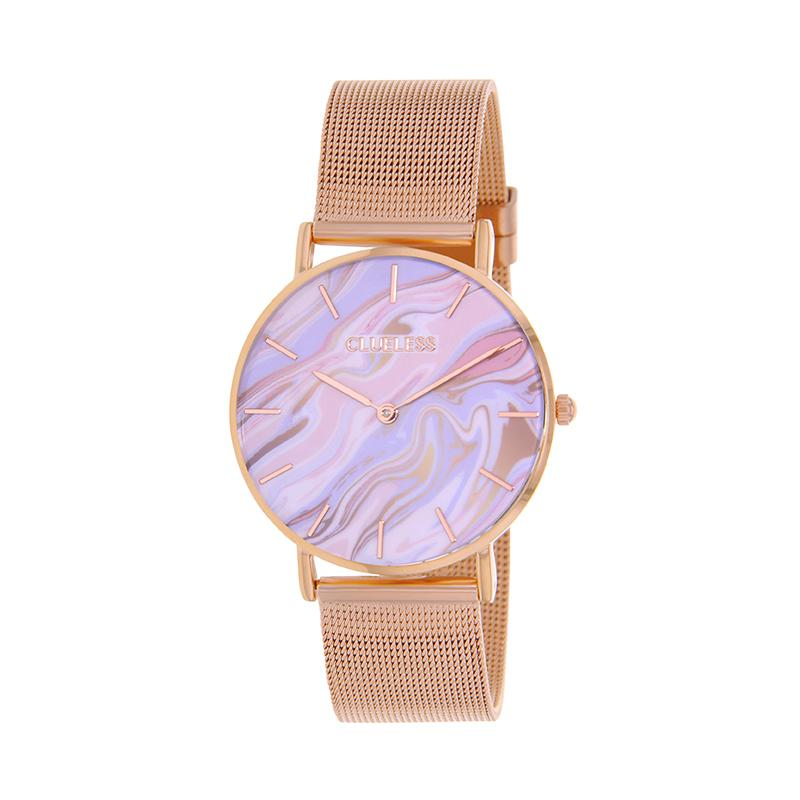CLUELESS Montre Femme - Collection Déco - Maille Milanaise Dore | BCL10204-001