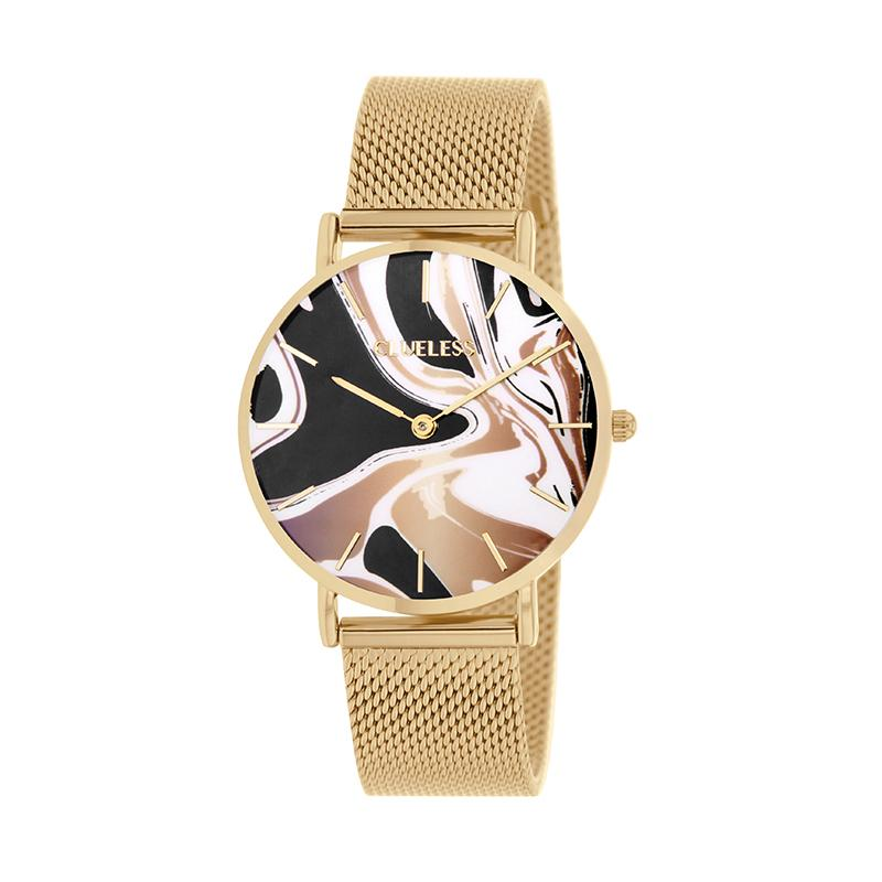CLUELESS Montre Femme - Collection Déco - Maille Milanaise Dore | BCL10204-003
