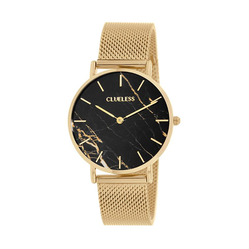 CLUELESS Montre Femme - Collection Déco - Maille Milanaise Dore | BCL10204-004