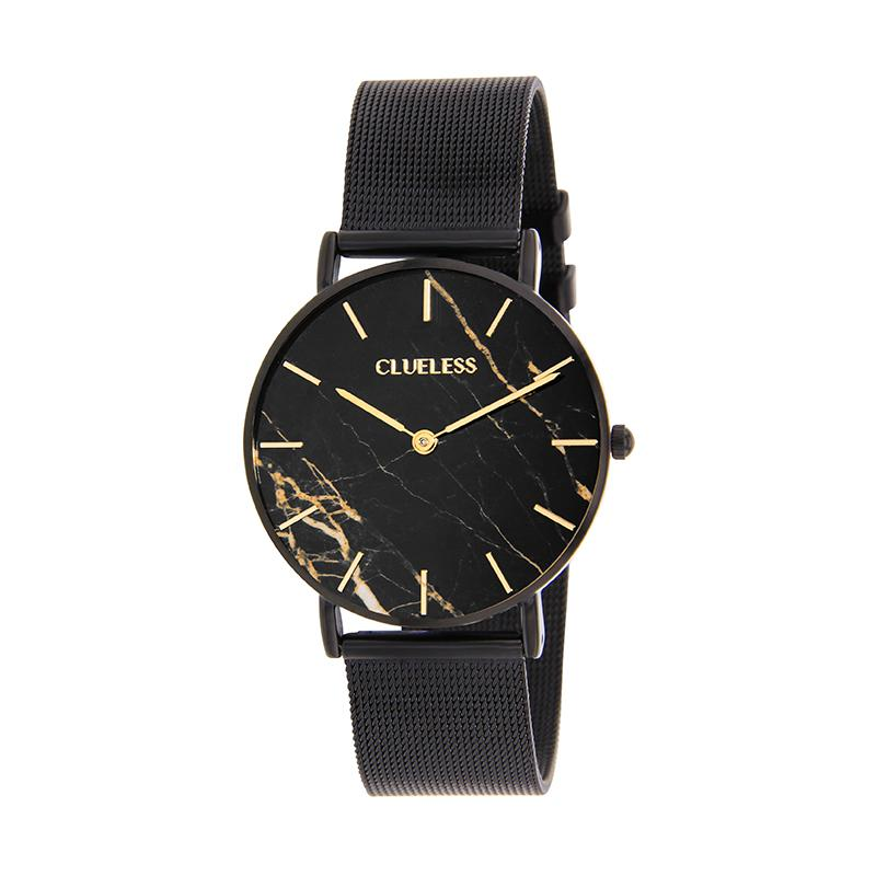 CLUELESS Montre Femme - Collection Déco - Maille Milanaise Noir | BCL10204-904