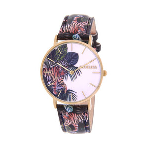 CLUELESS Montre Femme - Collection Tropical - Cuir Multicolore | BCL10032-057