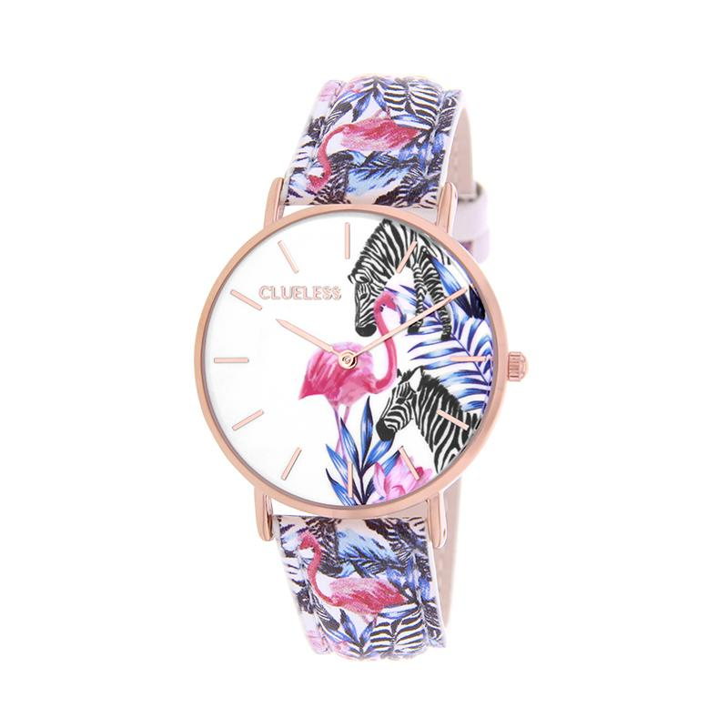 CLUELESS Montre Femme - Collection Tropical - Cuir Multicolore | BCL10032-050