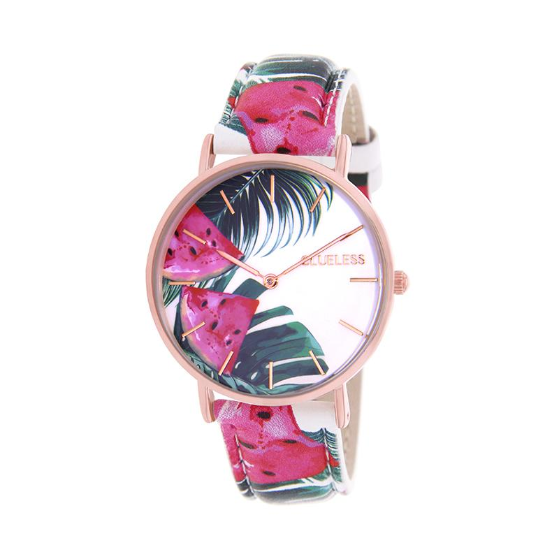 CLUELESS Montre Femme - Collection Tropical - Cuir Multicolore | BCL10032-059