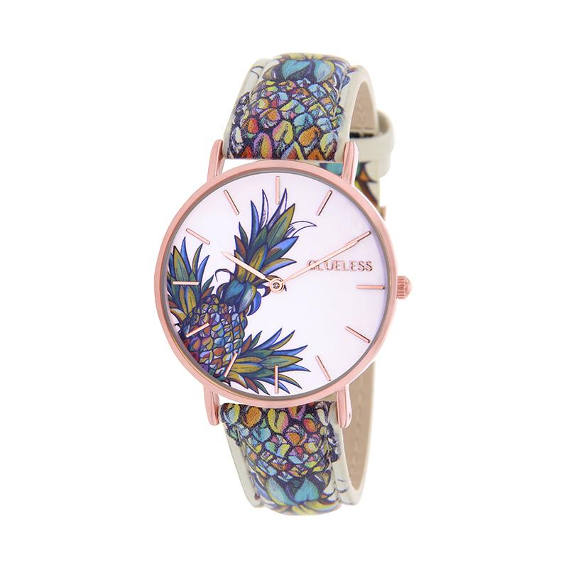 CLUELESS Montre Femme - Collection Tropical - Cuir Multicolore | BCL10032-060