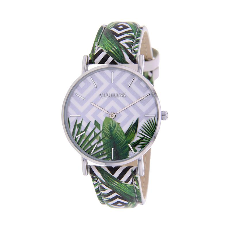 CLUELESS Montre Femme - Collection Tropical - Cuir Multicolore | BCL10032-061