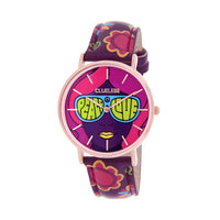 CLUELESS Montre Femme - Collection Society - Cuir Multicolore | BCL10032-067