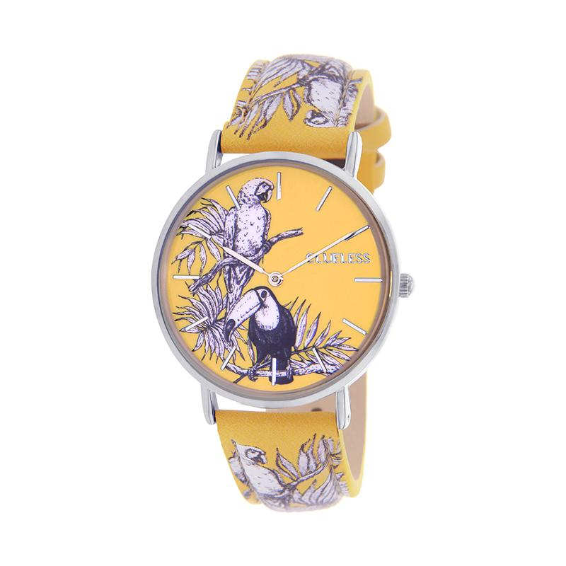 CLUELESS Montre Femme - Collection Tropical - Cuir Multicolore | BCL10032-051