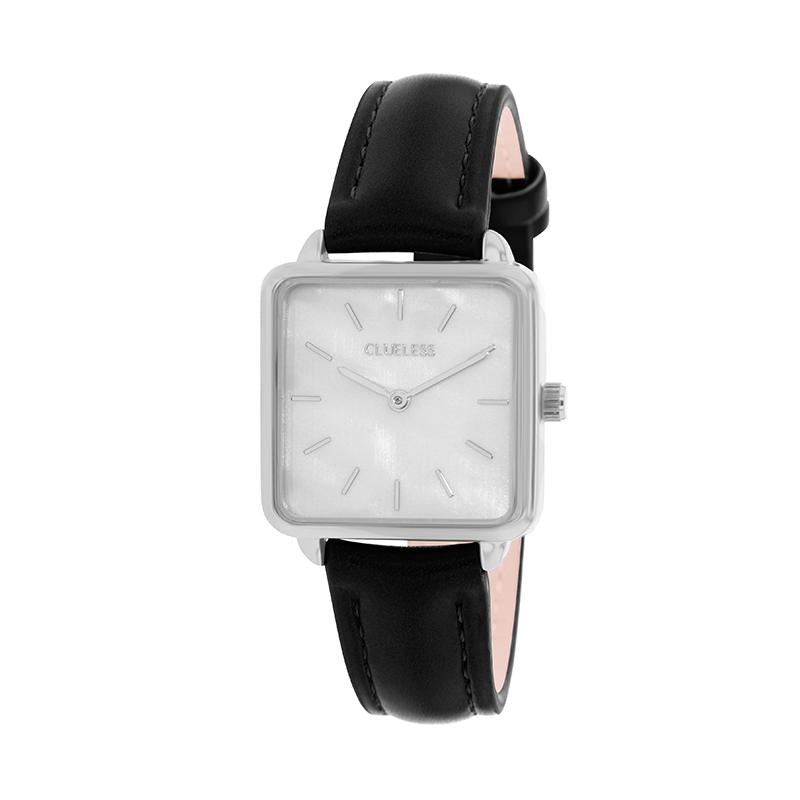 CLUELESS Montre Femme - Collection Fame - Cuir Noir | BCL10142-201