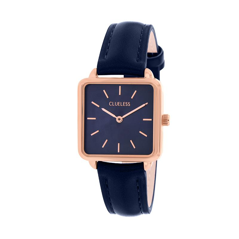 CLUELESS Montre Femme - Collection Fame - Cuir Bleu | BCL10142-808