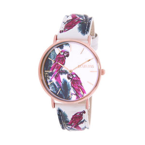 CLUELESS Montre Femme - Collection Tropical - Cuir Multicolore | BCL10032-052