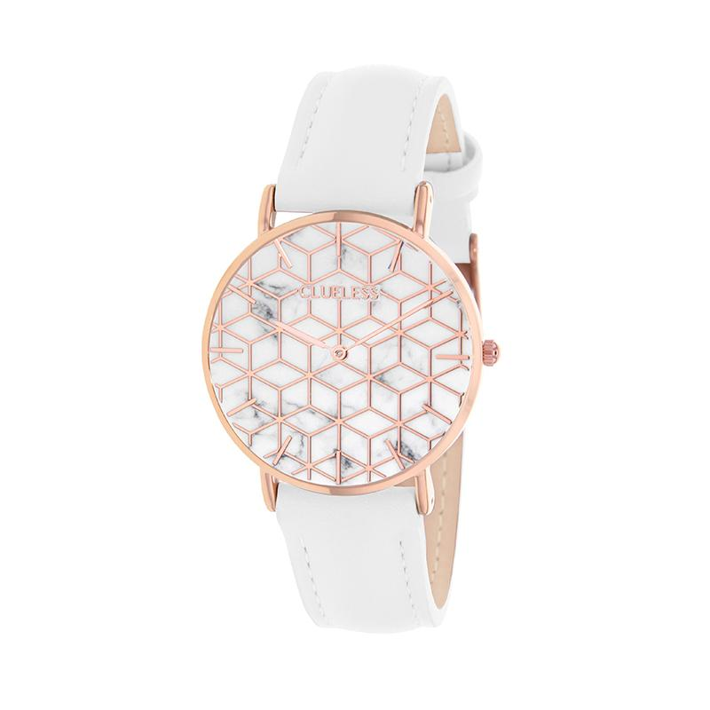 CLUELESS Montre Femme - Collection Déco - Cuir Blanc | BCL10192-004