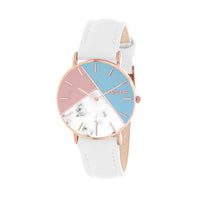 CLUELESS Montre Femme - Collection Déco - Cuir Blanc | BCL10192-008