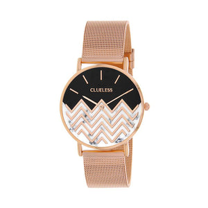 CLUELESS Montre Femme - Collection Déco - Maille Milanaise Rose Gold | BCL10194-001