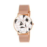 CLUELESS Montre Femme - Collection Déco - Maille Milanaise Rose Gold | BCL10194-002