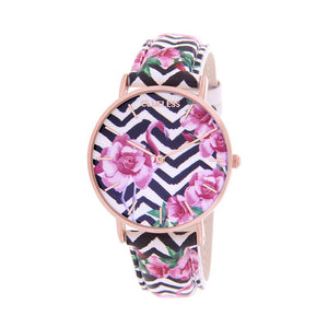 CLUELESS Montre Femme - Collection Tropical - Cuir Multicolore | BCL10032-053