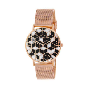 CLUELESS Montre Femme - Collection Déco - Maille Milanaise Rose Gold | BCL10194-003