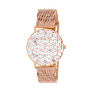 CLUELESS Montre Femme - Collection Déco - Maille Milanaise Rose Gold | BCL10194-004