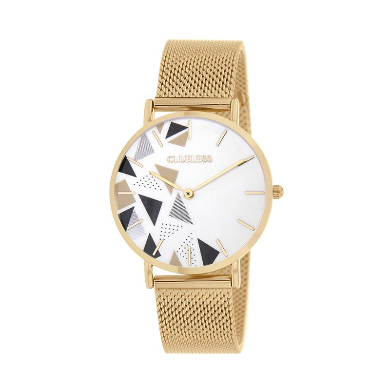 CLUELESS Montre Femme - Collection Déco - Maille Milanaise Dore | BCL10194-007