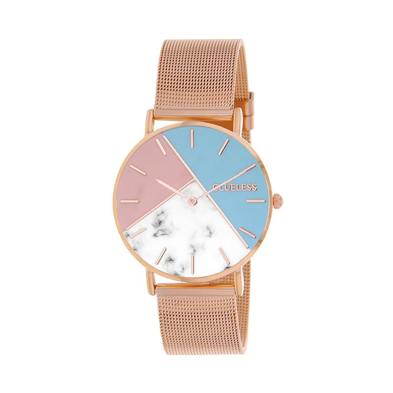 CLUELESS Montre Femme - Collection Déco - Maille Milanaise Rose Gold | BCL10194-008