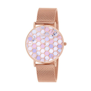 CLUELESS Montre Femme - Collection Déco - Maille Milanaise Rose Gold | BCL10194-009