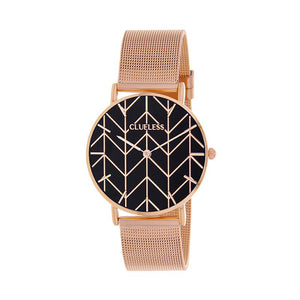 CLUELESS Montre Femme - Collection Déco - Maille Milanaise Rose Gold | BCL10194-010