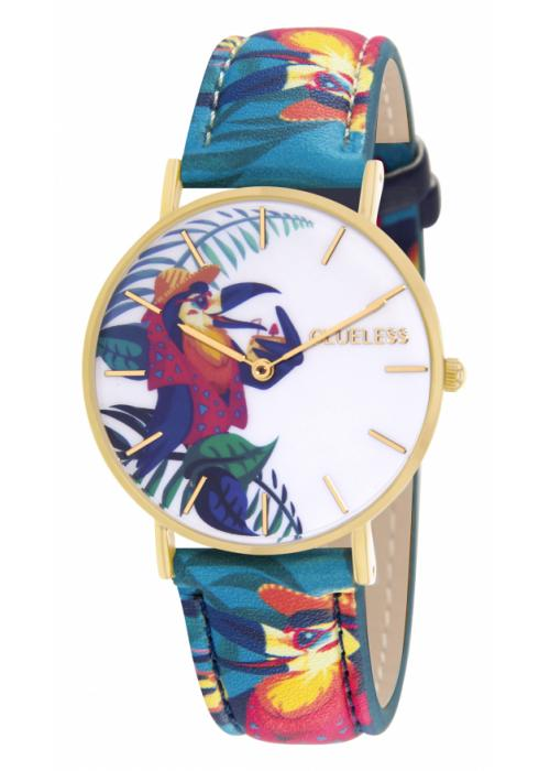 Clueless Montre Femme - Collection Tropical Cuir Multicolore | BCL10032 013