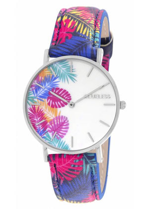 Clueless Montre Femme - Collection Tropical Cuir Multicolore | BCL10032 015