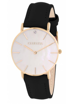 Clueless Montre Femme - Collection Classic - Cuir Noir | BCL10182 103