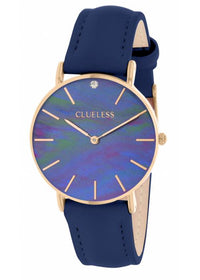 Clueless Montre Femme - Collection Classic - Cuir Bleu | BCL10182 108