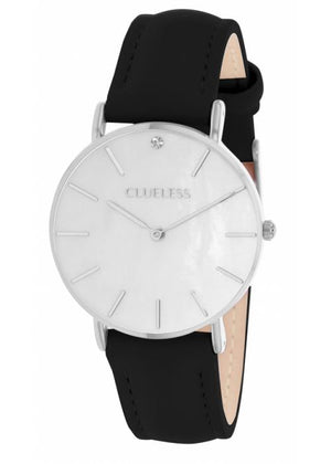 Clueless Montre Femme - Collection Classic - Cuir Noir | BCL10182 203