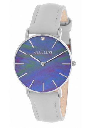Clueless Montre Femme - Collection Classic - Cuir Gris | BCL10182 213