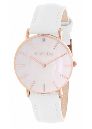 Clueless Montre Femme - Collection Classic - Cuir Blanc | BCL10182 801