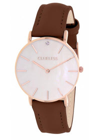 Clueless Montre Femme - Collection Classic - Cuir Marron | BCL10182 805