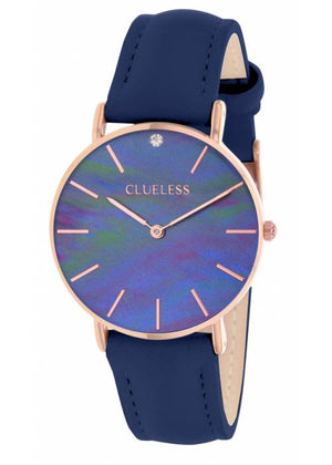 Clueless Montre Femme - Collection Classic - Cuir Bleu | BCL10182 808