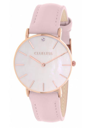 Clueless Montre Femme - Collection Classic - Cuir Or Rose | BCL10182 812