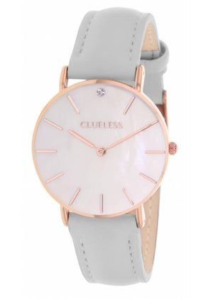 Clueless Montre Femme - Collection Classic - Cuir Gris | BCL10182 813