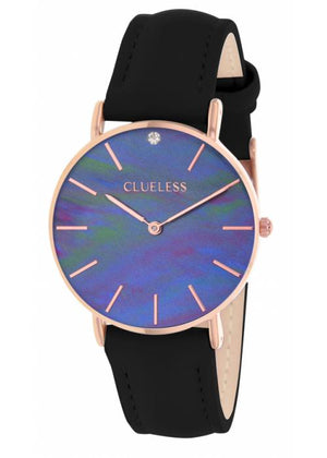 Clueless Montre Femme - Collection Classic - Cuir Noir | BCL10182 817