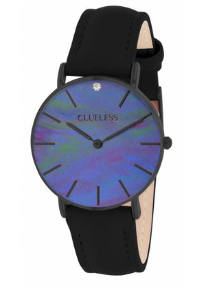 Clueless Montre Femme - Collection Classic - Cuir Noir | BCL10182 903