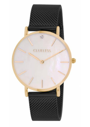 Clueless Montre Femme - Collection Classic - Cuir Noir | BCL10184 132
