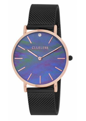Clueless Montre Femme - Collection Classic - Mesh Noir | BCL10184 303
