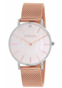 Clueless Montre Femme - Collection Classic - Mesh Or Rose | BCL10184 812