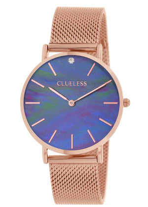 Clueless Montre Femme - Collection Classic - Mesh Or Rose | BCL10184 817