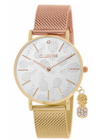 Clueless Montre Femme - Collection - Charming Mesh Or Et Rose | BCL10224 002