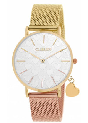 Clueless Montre Femme - Collection - Charming Mesh Or Et Rose | BCL10224 010