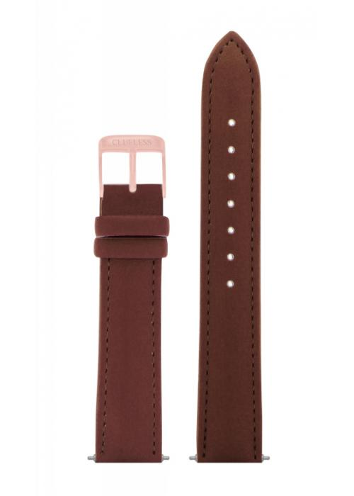 Clueless Bracelet De Montres - Cuir Motif Marron / Rose Gold | Xbcl10072-808 watch strap