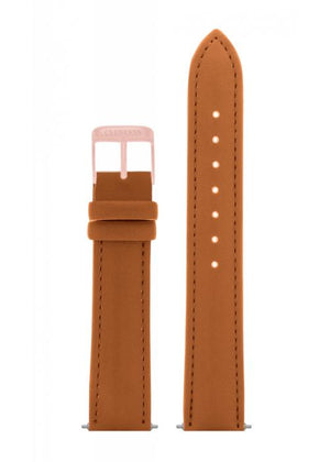 Clueless Bracelet De Montres - Cuir Motif Marron / Rose Gold | Xbcl10072-811 watch strap