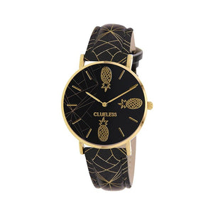 Clueless Montre Femme - Collection Tropical - Cuir Multicolore - Boitier Dore | BCL10031-067