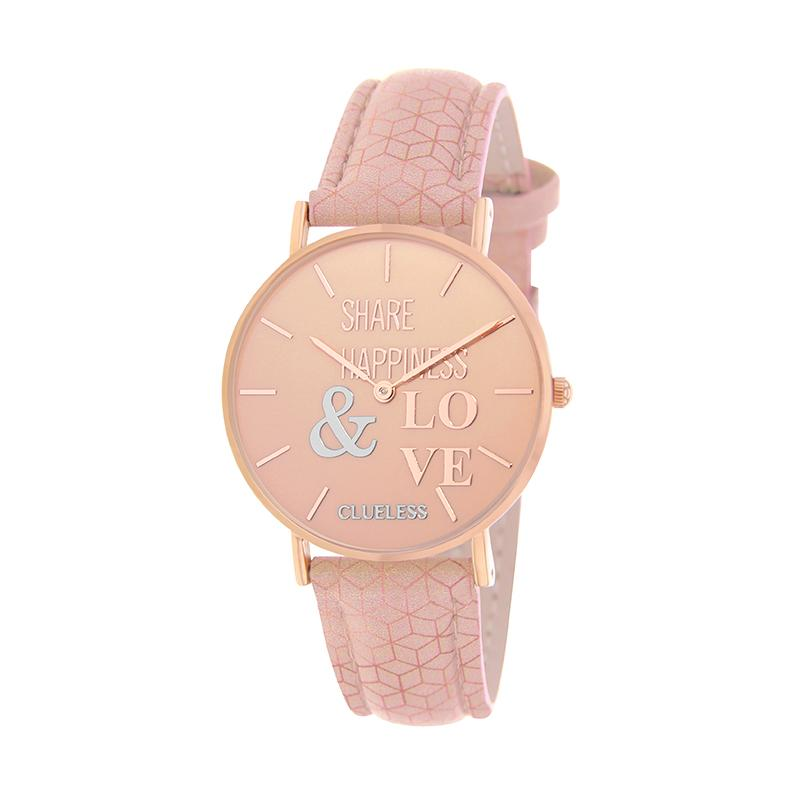 Clueless Montre Femme - Collection Happy - Cuir Rose - Cadran Rose | BCL10032-049