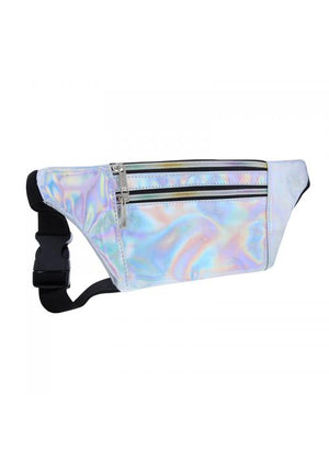 Clueless Sacs Banane Femme Multicolore Blanc - Ceinture Noir - Collection Tropical | XBCL0026-001