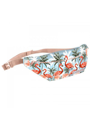 Clueless Sacs Banane Femme Multicolore Blanc - Ceinture Noir - Collection Tropical | XBCL0017-008